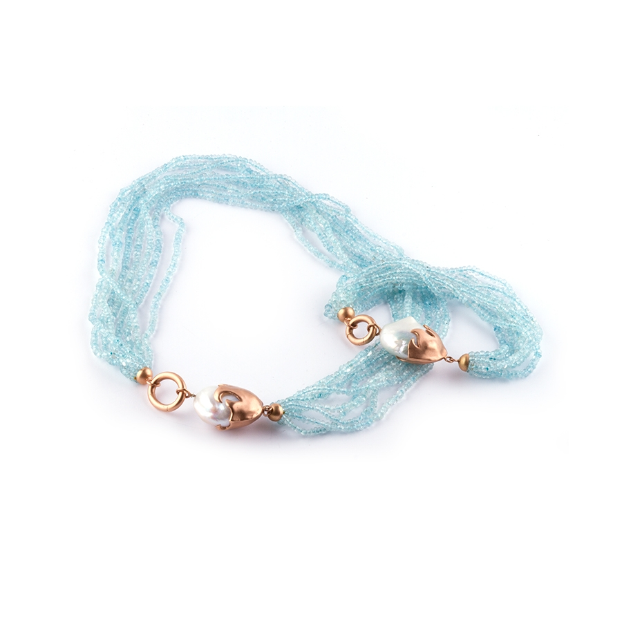Necklace & Bracelet Suite - Aquamarine